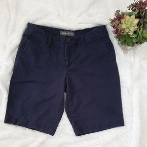 Eddie Bauer Slightly Curvy Fit Navy Chino Shorts
